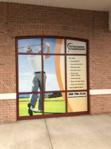 Window door decals and signage